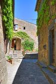 Alleyway. Civita di Bagnoregio. Lazio. Italy. — Stock Photo