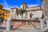 Monumental fountain. Narni. Umbria. Italy. — Stock Photo