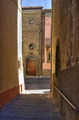 Alleyway. Montefiascone. Lazio. Italy. — Stock Photo