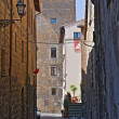 Alleyway. Orvieto. Umbria. Italy. — Stock Photo