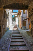 Alleyway. San Gemini. Umbria. Italy. — Stock Photo