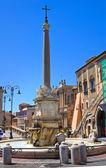 Monumental fountain. Tarquinia. Lazio. Italy. — Stock Photo