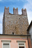 Versterkte muren. calcata (vt). lazio. italië. — Stockfoto