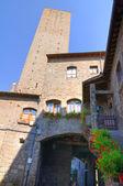 Beco. Viterbo. Lazio. Itália. — Fotografia Stock
