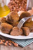 Black Bean Meatballs. — Stock Photo