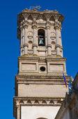 Belltower av kyrkan basilica mor. copertino. puglia. italien. — Stockfoto