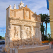 Greek fountain. Gallipoli. Puglia. Italy. — Stock Photo