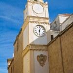 Clocktower. Gallipoli. Puglia. Italy. — Stock Photo