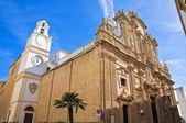Baziliky svatého agata. gallipoli. puglia. itálie. — Stock fotografie