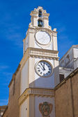 Clocktower. gallipoli. puglia. itália. — Foto Stock