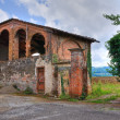 Stock Photo: Barn. Castle of Agazzano. Emilia-Romagna. Italy.