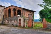 Stodola. hrad agazzano. emilia-romagna. itálie. — Stock fotografie