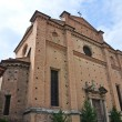 Church of Holy Sepulchre. Piacenza. Emilia-Romagna. Italy. - Stock Photo