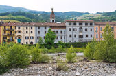 Panoramic view of Bettola. Emilia-Romagna. Italy. — Stock Photo
