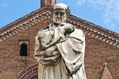 Gian Domenico Romagnosi Statue.Piacenza. Emilia-Romagna. Italy. — Stock Photo