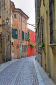 Alleyway. Piacenza. Emilia-Romagna. Italy. — Stock Photo