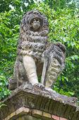 Stone statue. Grazzano Visconti. Emilia-Romagna. Italy. — Stock Photo