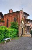 Gothic church. Grazzano Visconti. Emilia-Romagna. Italy. — Stock Photo