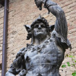 Bronze statue. Grazzano Visconti. Emilia Romagna. Italy. — Stock Photo