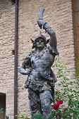 Bronze statue. Grazzano Visconti. Emilia-Romagna. Italy. — Stock Photo