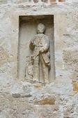 Oratory church of Vigoleno. Emilia-Romagna. Italy. — Stock Photo