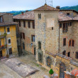 Panoramic view of Vigoleno. Emilia-Romagna. Italy. — Stock Photo