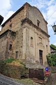 Church of SS. Trinita. Castell'Arquato. Emilia-Romagna. Italy. — Stock Photo