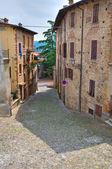 Alleyway. Castell'Arquato. Emilia-Romagna. Italy. — Stock Photo