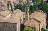 Panoramic view of Castell'Arquato. Emilia-Romagna. Italy. — Stock Photo