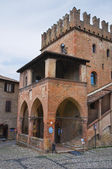 Podesta palace. Castell'Arquato. Emilia-Romagna. Italy. — Stock Photo