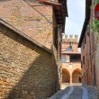 Alleyway. Castell'Arquato. Emilia-Romagna. Italy. — Stock Photo