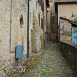 Stock Photo: Alleyway. Vigoleno. Emilia-Romagna. Italy.