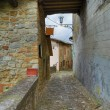 Alleyway. Vigoleno. Emilia-Romagna. Italy.  — Stock Photo