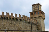 Castle of Vigoleno. Emilia-Romagna. Italy. — Stock Photo
