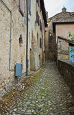 Alleyway. Vigoleno. Emilia-Romagna. Italy. — Stock Photo