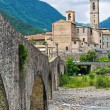 Panoramic view of Bobbio. Emilia-Romagna. Italy. — Stock Photo