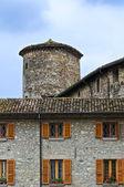 Zamek anguissola. travo. emilia-romania. włochy. — Zdjęcie stockowe
