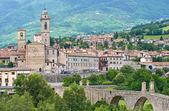 Panoramic view of Bobbio. Emilia-Romagna. Italy. — Stock Photo