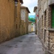 Alleyway. Bobbio. Emilia-Romagna. Italy. — Stock Photo
