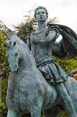 Statue of St. Antonino. Travo. Emilia-Romagna. Italy. — Stock Photo
