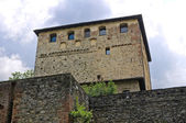 Castle of Malaspina - Dal Verme. Bobbio. Emilia-Romagna. Italy. — Stock Photo