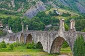 Hrbáč most. bobbio. emilia-romagna. itálie. — Stock fotografie