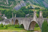 Hunchback bridge. Bobbio. Emilia-Romagna. Italy. — Photo