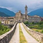 Panoramic view of Bobbio. Emilia Romagna. Italy. — Stock Photo #20329451