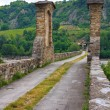 Hunchback bridge. Bobbio. Emilia-Romagna. Italy. — Stock Photo #20329827