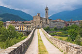 Panoramic view of Bobbio. Emilia Romagna. Italy. — ストック写真