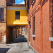 Alleyway. Ferrara. Emilia-Romagna. Italy. — Stock Photo