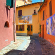 Alleyway. Dozza. Emilia-Romagna. Italy. — Stock Photo