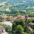 Panoramic view of Brisighella. Emilia-Romagna. Italy. — Zdjęcie stockowe