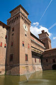 The Este Castle. Ferrara. Emilia-Romagna. Italy. — Stock Photo